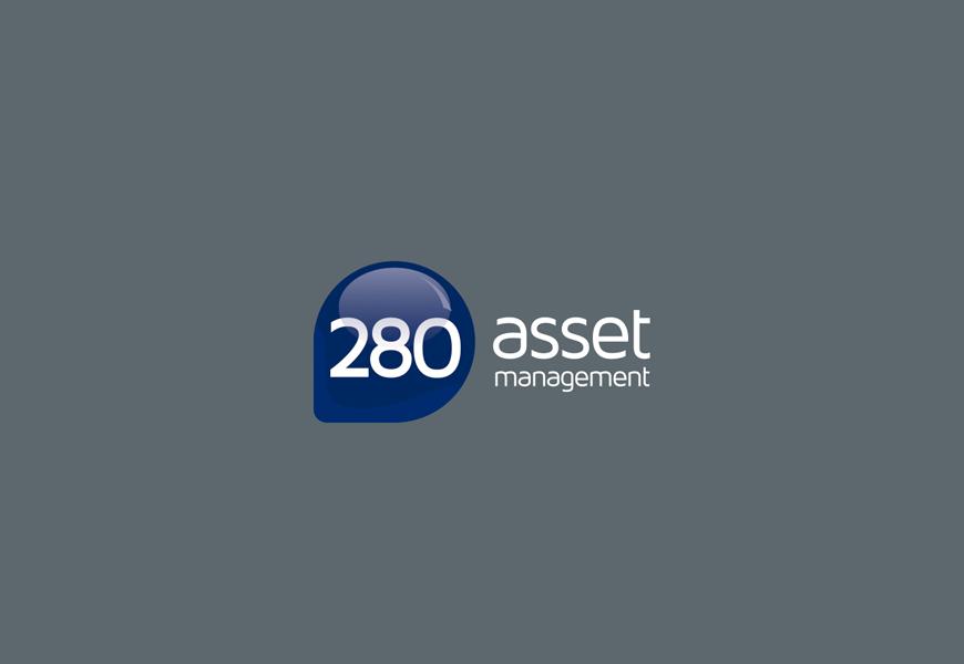 Logotipo versão negativa para escritório de assessoria financeira 280 Asset de São Paulo