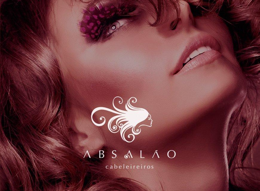 criação de logotipo e identidade visual para cabeleireiros, foto conceitual para Absalão de João Pessoa, PA