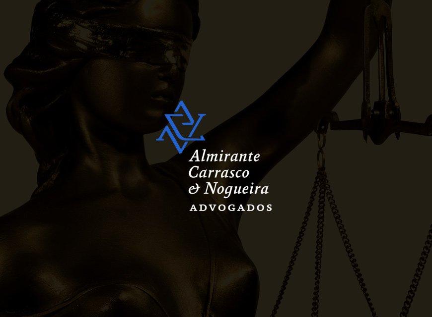 Criação de logotipo e identidade visual para advogados Almirante Carrasco Advogados de São Paulo