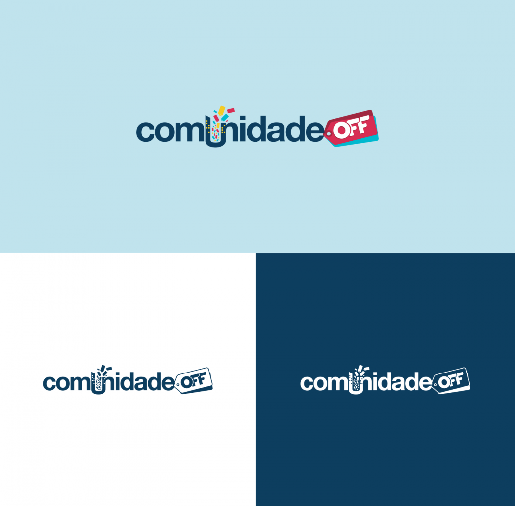 logotipo em versão positiva e negativa para loja virtual