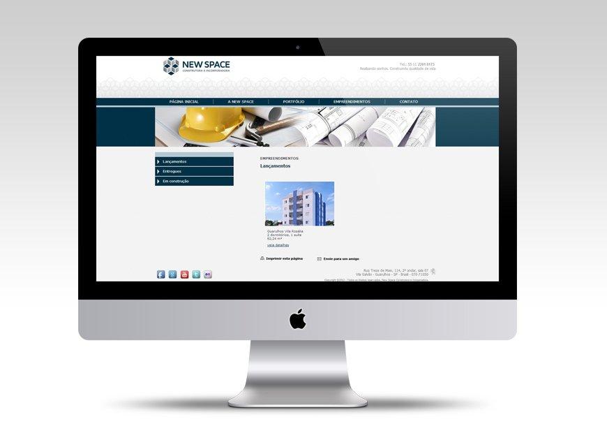 criação de site construtora new space