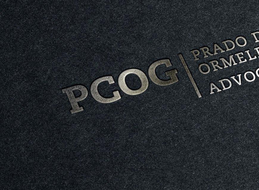 Criação de logotipo PCOG Advogados, identidade visual para advogados, detalhe do logotipo
