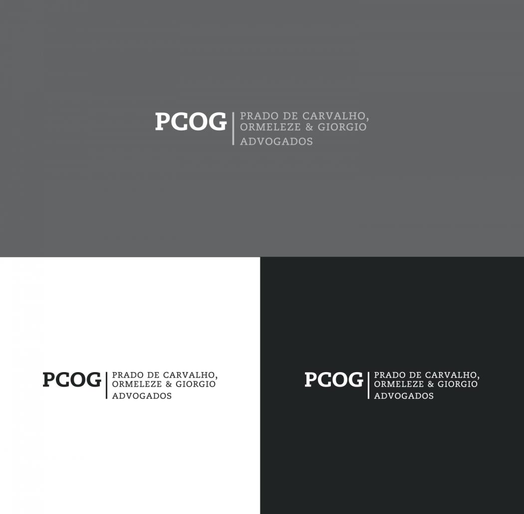 versões do logotipo advogados pcog