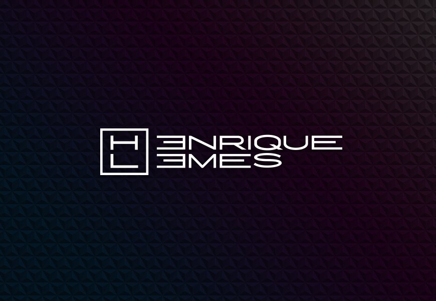 logotipo henrique lemes versão negativa