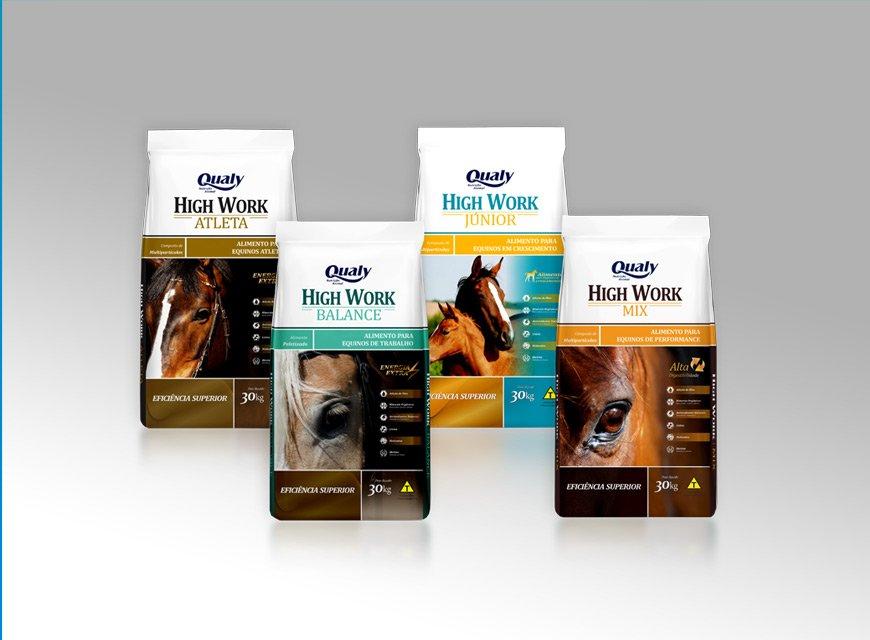 criação de embalagem de alimento para animais de raça