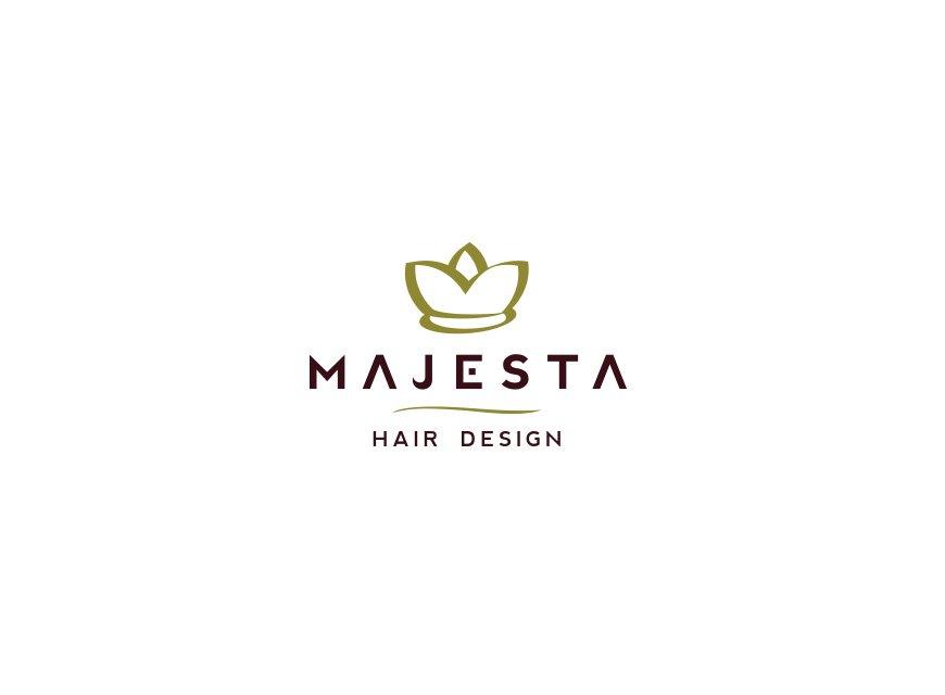 logotipo salão de beleza e hair design