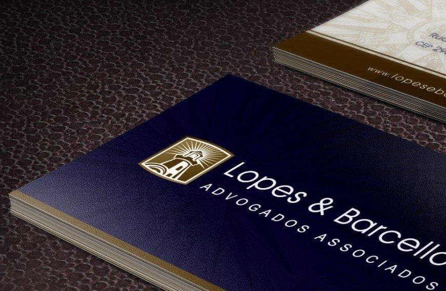 cartão de visitas lopes e barcellos
