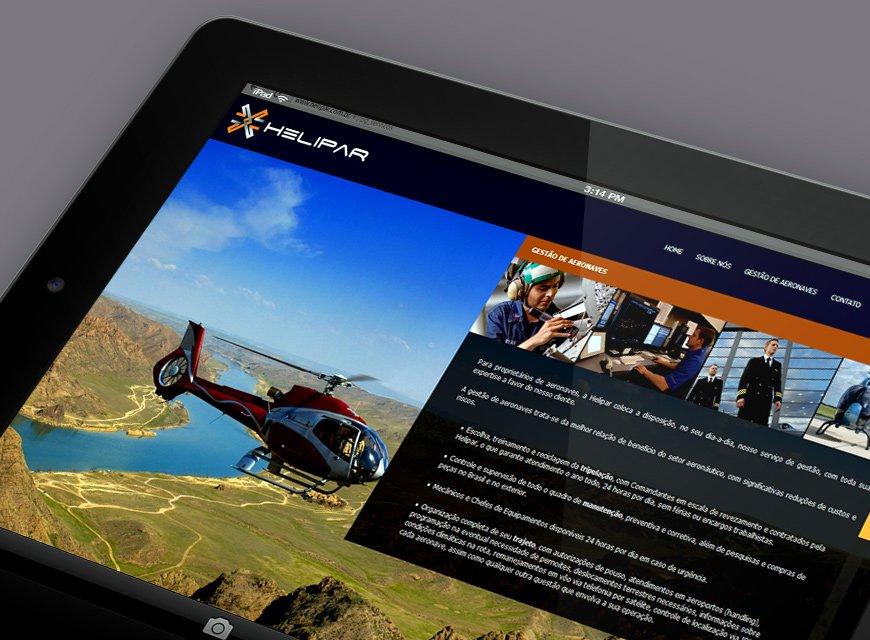 criação de web sites para empresas de aviação e helicópteros