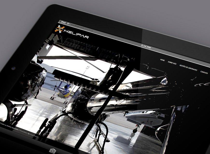 criação de web site para empresa de gestão de aeronaves e helicópteros