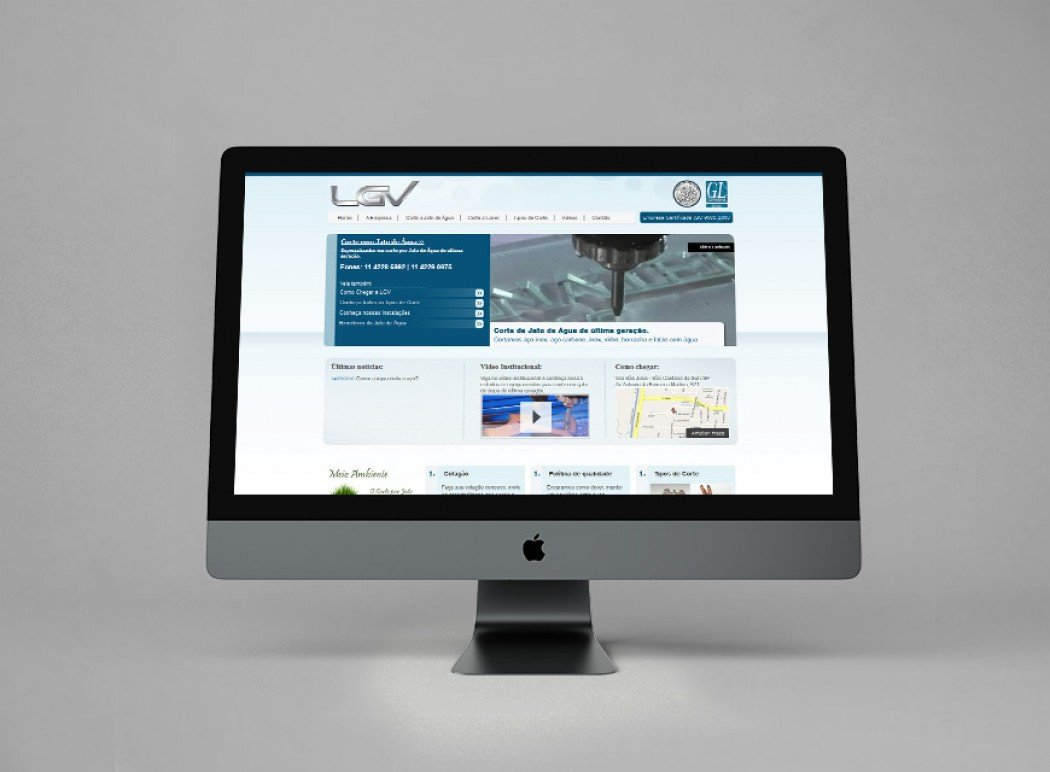 site responsivo lgv corte por jato de água