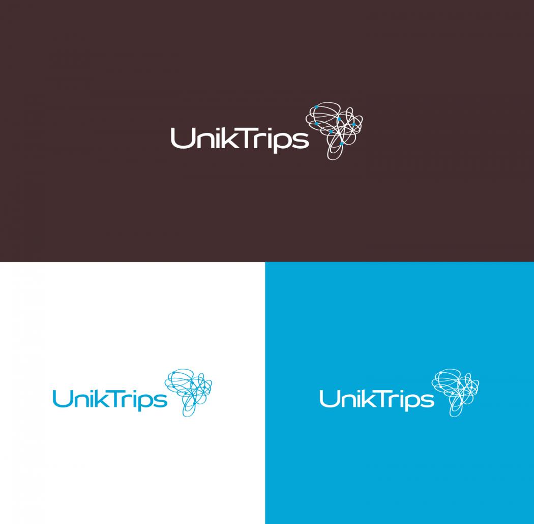 logotipo em 03 cores agencia de viagens unik trips