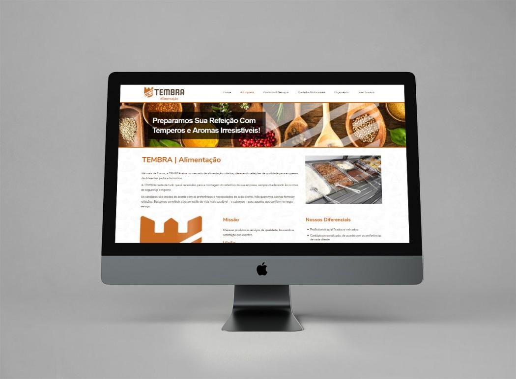 criação de sites responsivos e site para empresa de alimentação