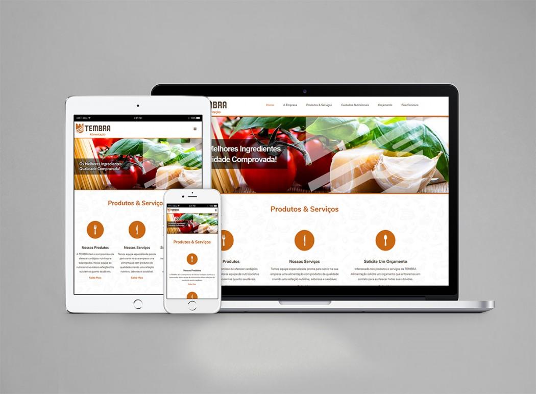 criação de web site para tembra alimentação coletiva