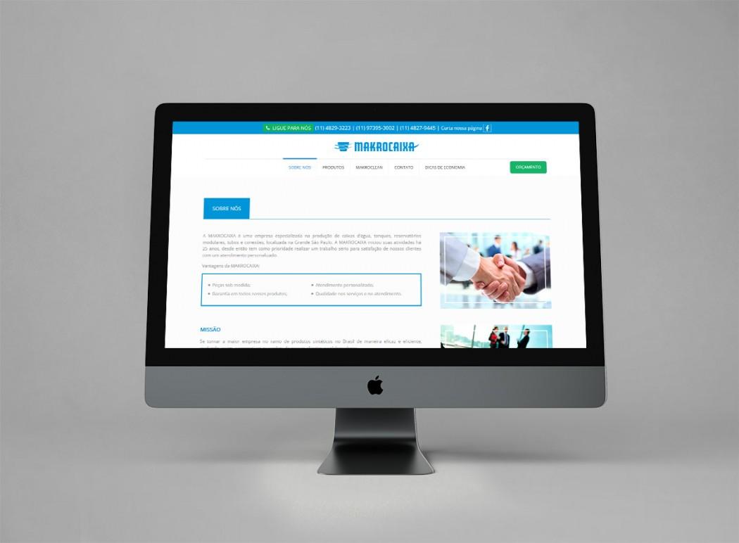 criação de web site para industria fabricante de caixa de agua