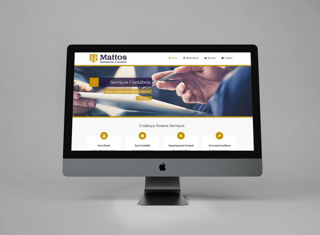 criação de site mattos contabil