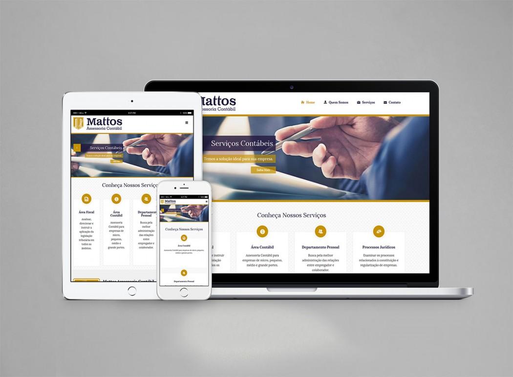 criação web site contabilidade mattos