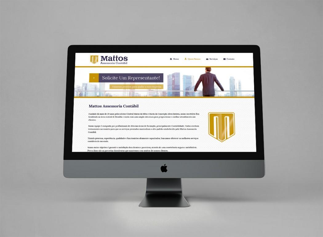 criação para web site de contabilidade mattos