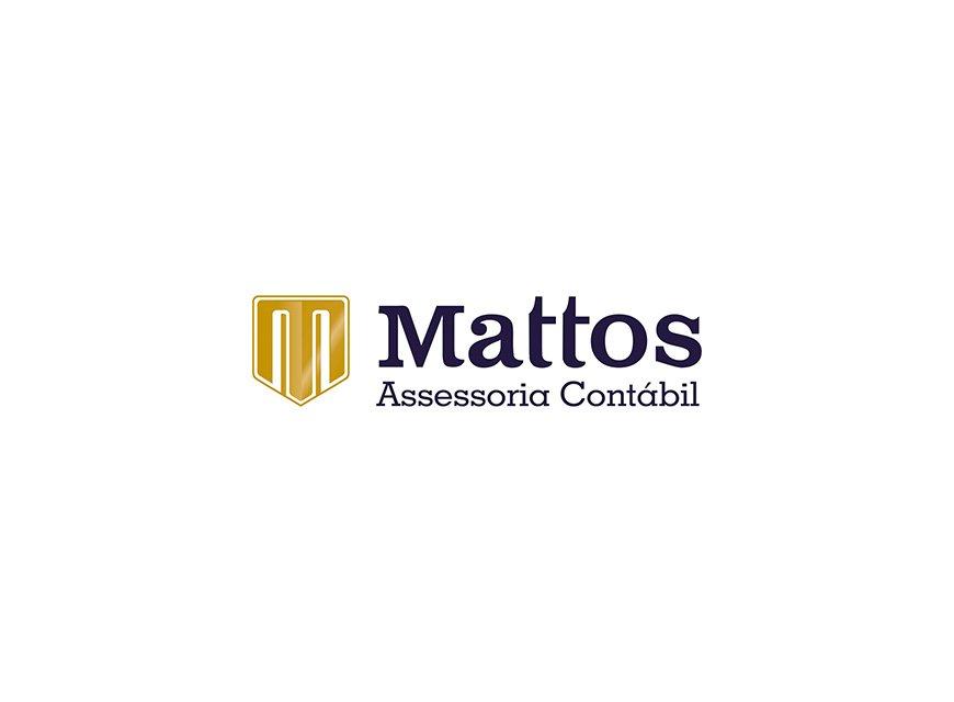 projeto logotipo e identidade visual Mattos Contabilidade de Brasília