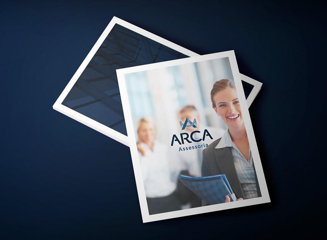 criação de folder e folheto arca contabilidade