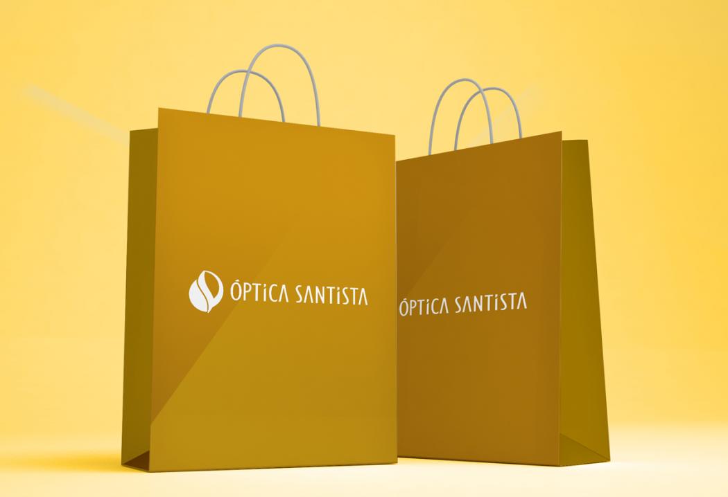 aplicação sacola logotipo ótica
