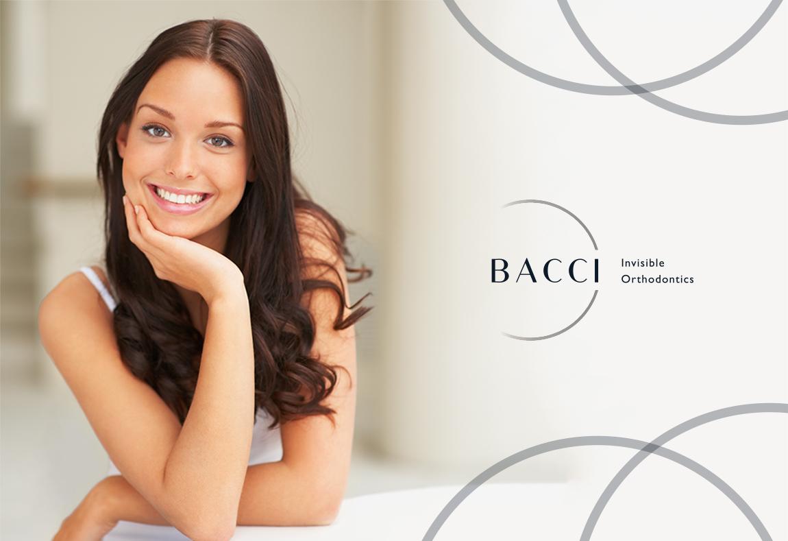 Bacci Ortodontia Invisível - Planejamento Estratégico, Criação do Design da Marca, Papelaria Corporativa, Identidade Visual e Web Site Responsivo.